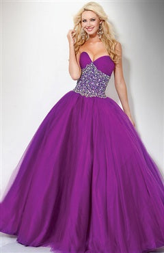 don't get swamped in bulky occasions dresses like this ball gown prom dress