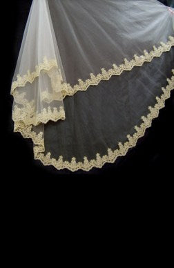 1 layer cathedral wedding veil