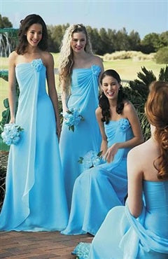 A-line Chiffon Bridesmaid Dresses With Ruffle Details