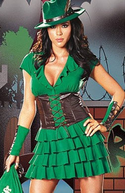 Robin Hood Greens Set Satin One Size Adult Costume