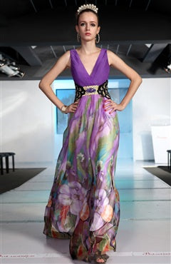 Deap V Floral Printed Ready-To-Ship Dress Style Code: 06343 US$229.00