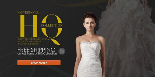 OuterInner dress deals | FREE shipping on HQ wedding gowns