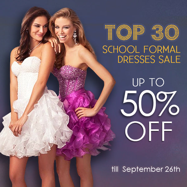 get up to 50% off school formal dresses