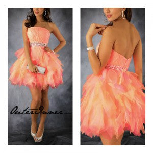 ruffled homecoming dresses 10293
