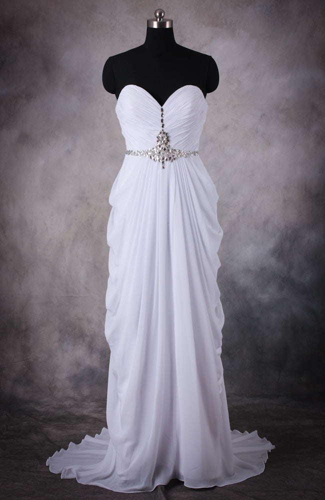 Shirred Sweetheart Draping Formal Dress, Style Code: 10420, US$106.00