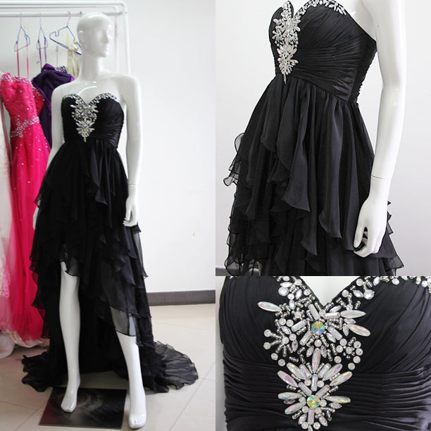 Diagonal Tiered Beading Hi-Lo 2013 Prom Dresses, Style Code: 10509, US$153.00