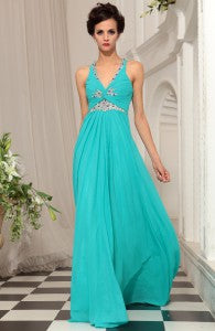 Tucked V-Neck Beading Sweep Trained Evening Wear Style Code: 11062 $179