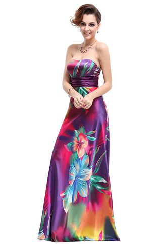 Sweetheart Satin A-line Prom Dresses