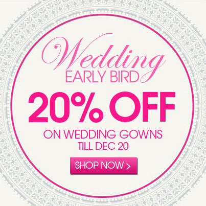 20% off wedding dresses