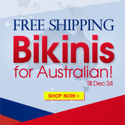 free shipping on bikinis for australia