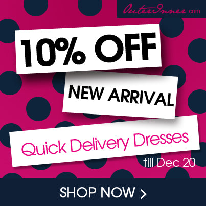 10% off new arrival quick delivery dresses