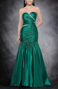 Sweetheart Neck Ruched Bodice Trumpet Prom Dress Style Code: 05433
