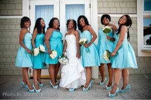 outerinner bridal party pictures guide | matching shoes