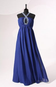 A-Line Ruched Halter Floor-length Prom Dress Style Code: 06609