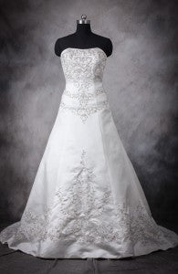 Embroidery Princess Silhouette Court Train Wedding Gown Style Code: 10973 $199