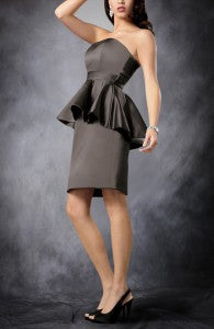 Angled Peplum Cocktail Dress Style Code: 08342 $89