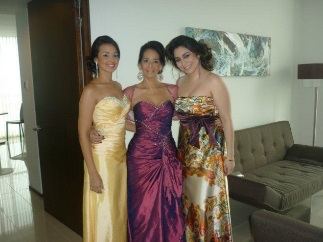 Angelica's mom and sister also wore dresses from OuterInner, and here they are looking lovely