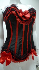 Reds Satin Sets Corsets Sexy Lingeries Style Code: 04273 US$16.99