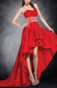 Gentle Sweetheart Empire Waist Asymmetrical Hem Evening Wear Style Code: 05477 $114