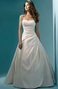 A-line Sweetheart Chapel Train Beading Wedding Gowns Style Code: 05941 Now $159