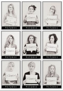 outerinner bridal party pictures guide | bridesmaid mugshot