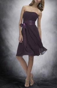 A-line Strapless Knee-length Sleeveless Chiffon Bridesmaid Dresses Style Code: 05167 Now just $71.10