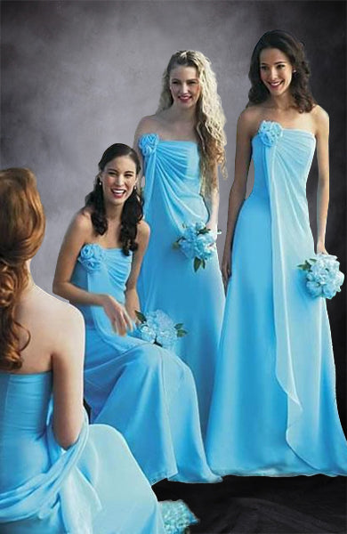 A-line Chiffon Bridesmaid Dress With Ruffle Details. Style Code: 05701. US$84