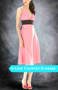 A line cocktail dresses