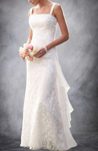 Chiffon Straps A-line Sheath Wedding Dress Style Code: 08876 $229