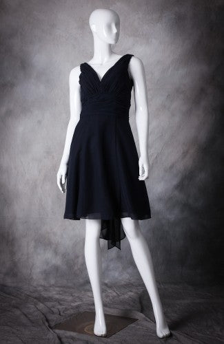 Ruched V Neck Back Sash Bridesmaid Dress, Style Code: 10450, US$84.00