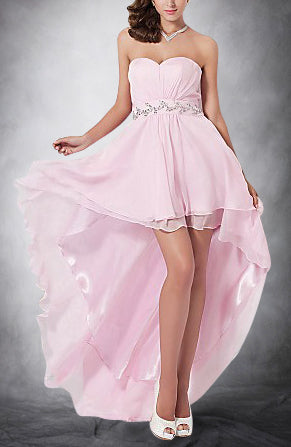 Chiffon Sweetheart Hi-Lo Prom Dress. Style Code: 11282. US$119