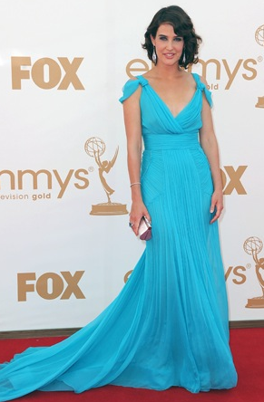 Cobie Smulders blue dress