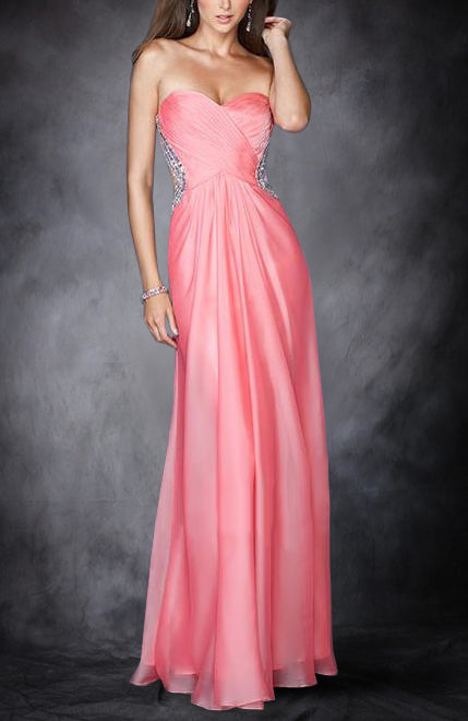 Crossed Front Backless Chiffon Prom Dresses. Style Code: 11317. US$129