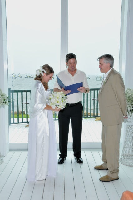 Brianne and her husband during their ceremony