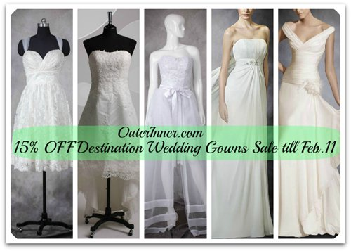 OuterInner.com Destination Wedding Gowns sale