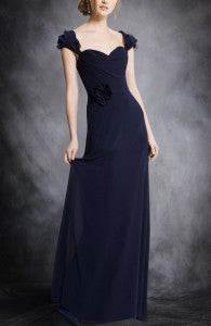 Chiffon A-Line Floor-Length Capped Sleeve Bridesmaid Dresses Style Code: 07485 Now just $89.10
