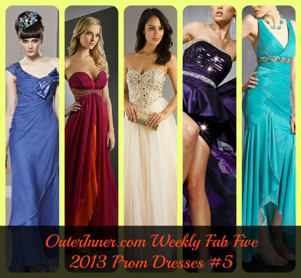 weekly fab five 2013 prom dresses #5