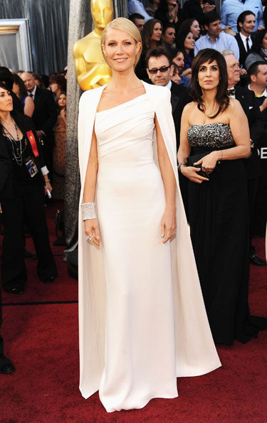 Gwyneth Paltrow in white Tom Ford gown