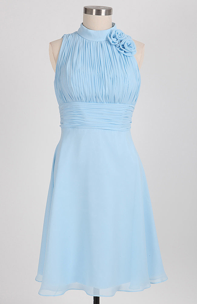 High Neckline Pleated Top Dress. Style Code: 08108. US$88