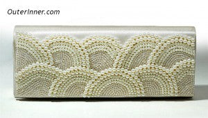 Ivory Pearls Embellished Clutch 10995