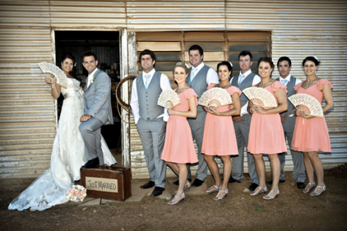 Kate's wedding party and bridesmaid dresses