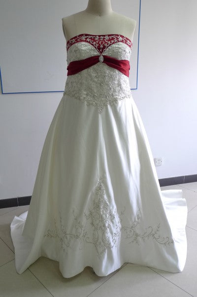 front of wedding dress
