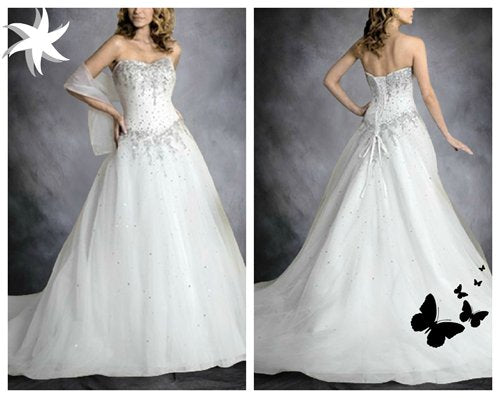 Celebrity VIP Style Wedding Dress for wedding themes for 2013