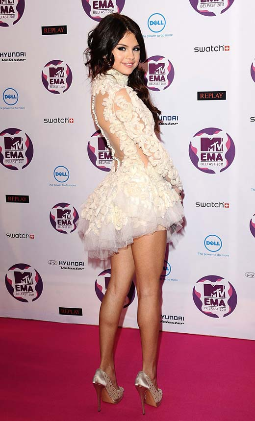 selena gomes tulle dress back