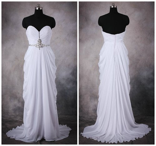 Shirred Sweetheart Draping Formal Dress. Style Code: 10420. US$106