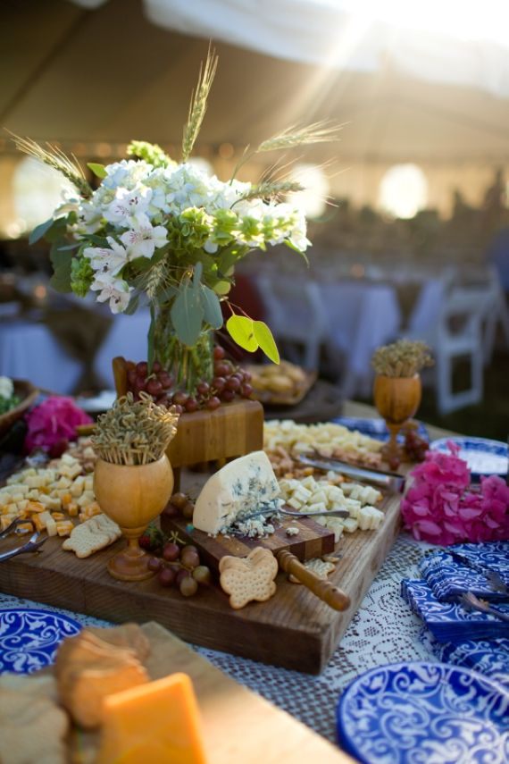 Spring wedding food ideas | cheese and fruit boards