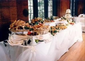 have a wedding buffet | money saving wedding tips