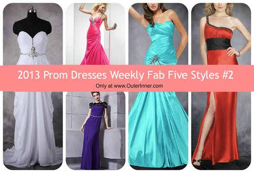 weekly fab five 2013 prom dresses #2