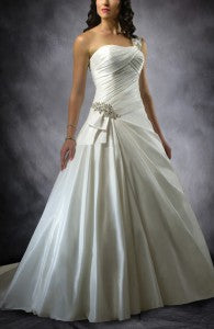 Ruffles Floor-length One-shoulder Bridesmaid Dress  Style Code: 13795 $164