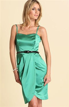 Sheath Short Elastic Silk-Like Satin Spaghetti Straps Cocktail Dresses, Style Code: 01290, US$69.00